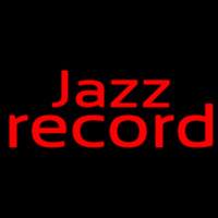 Red Jazz Record 1 Neonskylt