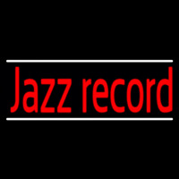 Red Jazz Record White Line 2 Neonskylt