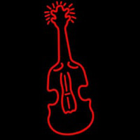 Red Logo Violin Neonskylt