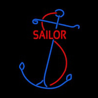 Red Sailor Logo Neonskylt