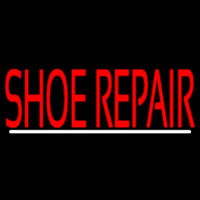 Red Shoe Repair With Line Neonskylt