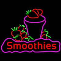 Red Smoothies Neonskylt
