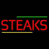 Red Steaks Neonskylt