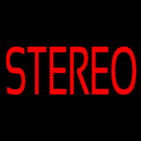 Red Stereo Block Neonskylt