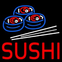 Red Sushi With Sushi Logo Neonskylt