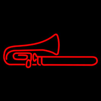 Red Trumpet Sa ophone 1 Neonskylt