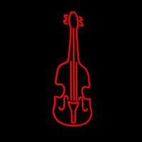 Red Violin Logo 1 Neonskylt