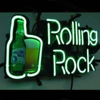 Rolling Rock Öl Bar Neonskylt