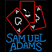 Samuel Adams Ace And Poker Beer Sign Neonskylt