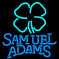 Samuel Adams Clover Beer Sign Neonskylt