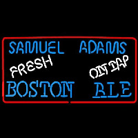 Samuel Adams Fresh Boston Ale On Tap Beer Sign Neonskylt