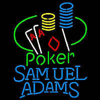 Samuel Adams Poker Ace Coin Table Beer Sign Neonskylt