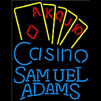 Samuel Adams Poker Casino Ace Series Beer Sign Neonskylt