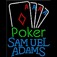 Samuel Adams Poker Tournament Beer Sign Neonskylt