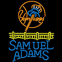 Samuel Adams Single Line Logo New York Yankees Beer Sign Neonskylt