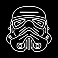 Star Wars Storm Trooper Helmet Neonskylt