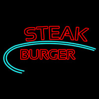Steak Burger Neonskylt