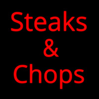 Steaks And Chops Neonskylt