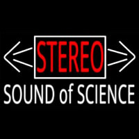 Stereo Sound Of Science Neonskylt