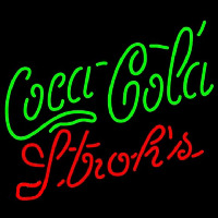 Strohs Coca Cola Green Beer Sign Neonskylt