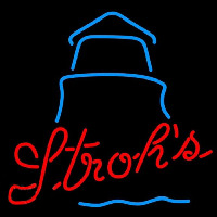 Strohs Day Lighthouse Beer Sign Neonskylt