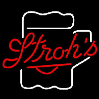 Strohs Mug Beer Sign Neonskylt