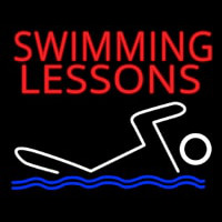 Swimming Lessons Neonskylt