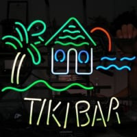 TIKI BAR TROPICAL Neonskylt