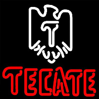 Tecate Eagle Logo Beer Sign Neonskylt