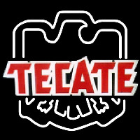 Tecate Eagle Print Logo Beer Sign Neonskylt