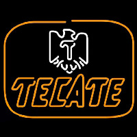 Tecate Golden Border Eagle Beer Sign Neonskylt