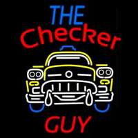 The Checker Guy Neonskylt