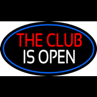 The Club Is Open Neonskylt