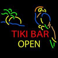 Tiki Bar Open Neonskylt