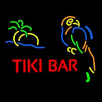Tiki Bar With Parrot Neonskylt