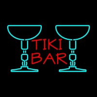 Tiki Bar with Two Martini Glasses Neonskylt