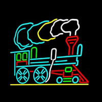 Train Logo Neonskylt