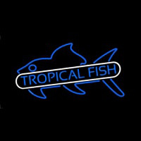 Tropical Fish Blue Neonskylt