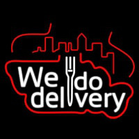 We Do Delivery Neonskylt
