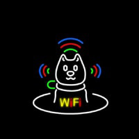 Wifi With Dog Logo Neonskylt