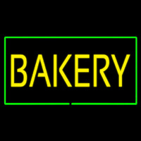 Yellow Bakery Rectangle Green Neonskylt