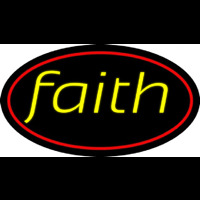 Yellow Faith Neonskylt