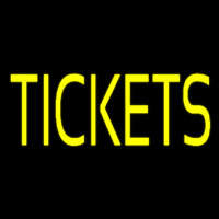 Yellow Tickets Neonskylt