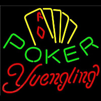 Yuengling Poker Yellow Neonskylt