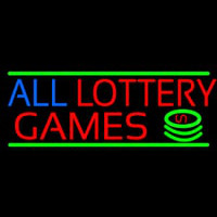 All Lottery Games Neonskylt