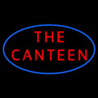 The Canteen With Blue Border Neonskylt