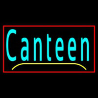 Cursive Canteen With Red Border Neonskylt