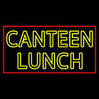 Double Stroke Canteen Lunch Neonskylt
